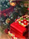 La cartolina di Natale perfetta fotografia stock