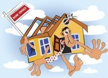 La casa è banca di proprietà per vendita Fotografie Stock Libere da Diritti