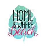 La casa è dove la spiaggia è Fotografia Stock Libera da Diritti