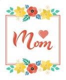 La casa è dove la vostra mamma è in manifesto dell'iscrizione della struttura Fotografia Stock