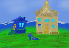 La casa illustrazione di stock