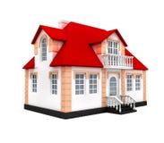 La casa aisló el modelo 3d Fotografía de archivo