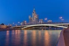 La casa alta a Mosca, Russia Fotografie Stock Libere da Diritti
