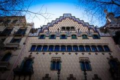 La casa Amatller es un edificio en Barcelona, España foto de archivo libre de regalías