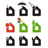 La casa assiste le icone Fotografia Stock Libera da Diritti