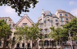 La casa Batllo, ` s de Gaudi expió, en Barcelona foto de archivo libre de regalías