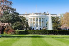 La Casa Bianca, facciata del sud, Washington DC Fotografie Stock