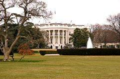 La Casa Bianca, prato inglese del sud, Washington, DC Immagini Stock