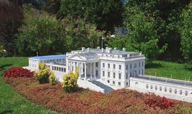 La Casa Bianca, U.S.A. Klagenfurt Parco miniatura Fotografia Stock