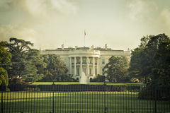 La Casa Bianca in Washington DC con l'elaborazione d'annata Fotografia Stock