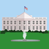 La Casa Bianca in Washington DC, vettore Fotografie Stock Libere da Diritti