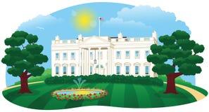 La casa blanca stock de ilustración