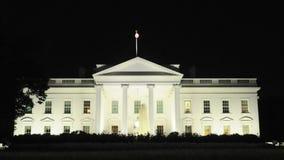 La Casa Blanca en la noche almacen de video