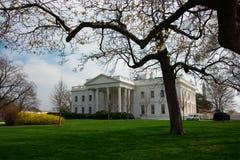 La casa blanca en resorte Foto de archivo libre de regalías