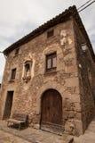 La casa catalana del coltivatore anziano Immagini Stock Libere da Diritti