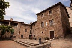 La casa catalana del coltivatore anziano Fotografie Stock