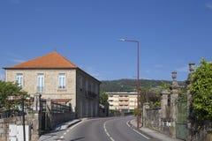 La casa colorea Portugal Imagen de archivo libre de regalías