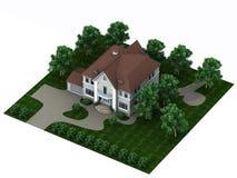 La casa con un sitio Imagen de archivo libre de regalías
