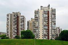 La casa concreta nella città di Vilnius Fotografia Stock Libera da Diritti