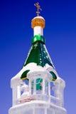La casa costruita con ghiaccio Immagine Stock