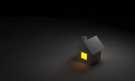 La casa 3D rinde Fotografía de archivo