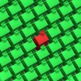 la casa 3d se destaca Imagenes de archivo