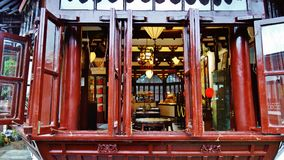 La casa da tè, Shanghai, porcellana Immagine Stock