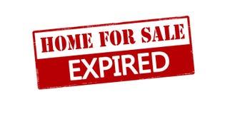 La casa da vendere ha espirato Immagini Stock