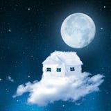 La casa dalle nuvole Immagine Stock Libera da Diritti