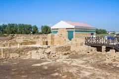 La casa de Aion Data del siglo IV A d Kato Paphos Archaeological Park Paphos Foto de archivo