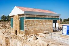 La casa de Aion Data del siglo IV A d Kato Paphos Archaeological Park Paphos Imagen de archivo