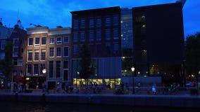 La casa de Anne Frank en Amsterdam en la ciudad de Prinsengracht de Amsterdam metrajes