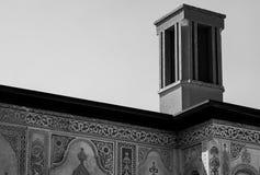 La casa de Borujerdi es una casa histórica en Kashan, Irán La casa fue construida en 1857 por el arquitecto Ustad Ali Maryam, par Fotografía de archivo libre de regalías