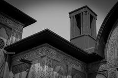 La casa de Borujerdi es una casa histórica en Kashan, Irán La casa fue construida en 1857 por el arquitecto Ustad Ali Maryam, par Foto de archivo libre de regalías