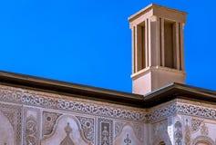 La casa de Borujerdi es una casa histórica en Kashan, Irán La casa fue construida en 1857 por el arquitecto Ustad Ali Maryam, par Imagenes de archivo