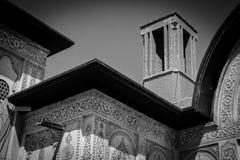 La casa de Borujerdi es una casa histórica en Kashan, Irán La casa fue construida en 1857 por el arquitecto Ustad Ali Maryam, par Imagen de archivo libre de regalías