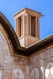 La casa de Borujerdi es una casa histórica en Kashan, Irán La casa fue construida en 1857 por el arquitecto Ustad Ali Maryam, par Foto de archivo
