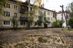 La casa de la era de URSS imagen de archivo