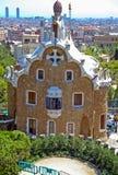 La casa de Gaudi del parque Guell Imagen de archivo