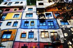 La casa de Hundertwasser Imagen de archivo libre de regalías