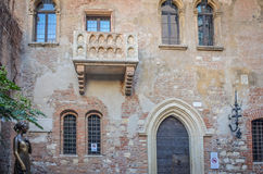 La casa de Juliet en Verona de Italia Imagen de archivo libre de regalías