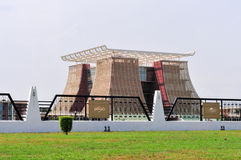 La casa de la asta de bandera - palacio presidencial de Ghana Fotografía de archivo