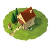 La casa de la fantasía Foto de archivo libre de regalías