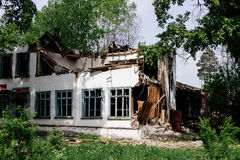 La casa de la ruina Fotos de archivo