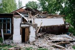 La casa de la ruina Foto de archivo