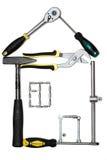 La casa de las herramientas Foto de archivo libre de regalías