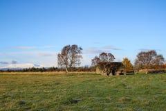 La casa de Leanach en Culloden amarra fotografía de archivo