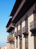 La casa de los balcones a La Orotava, Tenerife Fotografia Stock