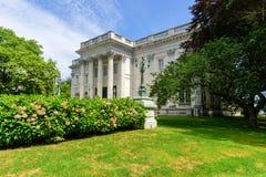 La casa de mármol - Newport, Rhode Island Fotografía de archivo libre de regalías
