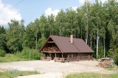 La casa de madera Imagen de archivo